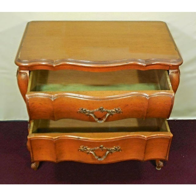 Brown Louis XV French Provincial Nightstands- A Pair For Sale - Image 8 of 9