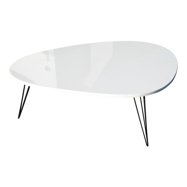 MidCentury Modern Style Kidney Shaped Coffee Table Chairish - Mid century modern kidney shaped coffee table