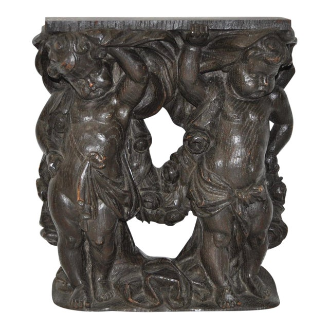 Antique Italian Hand-Carved Putti Wall Bracket - Image 1 of 7