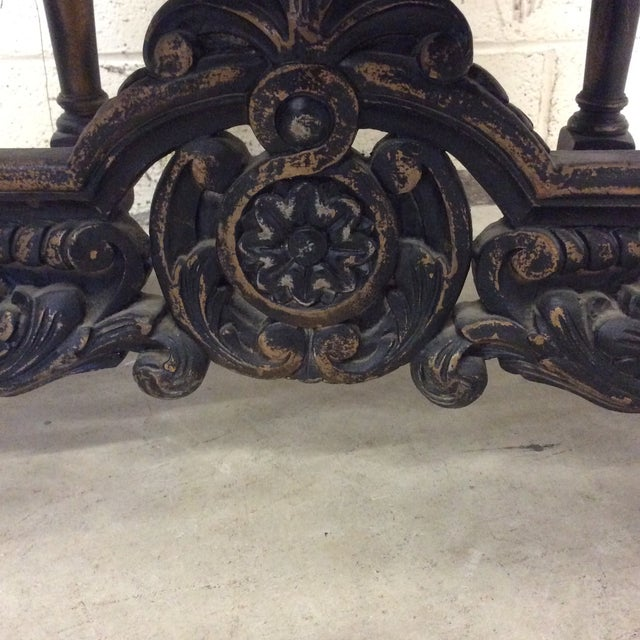 Carved Mahogany Jacobean Style High Back Chairs-A Pair For Sale - Image 10 of 13