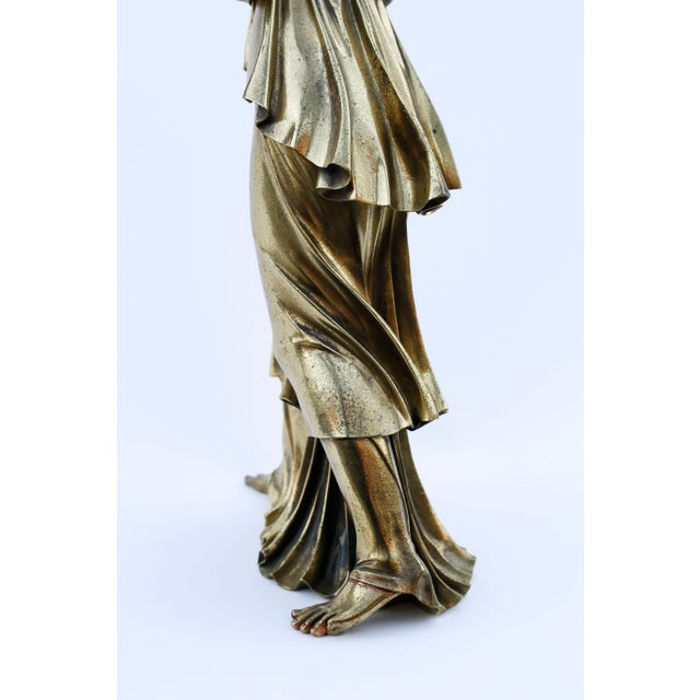 Metal 18th Century Neoclassical Bronze Doré Sculpture of a Woman For Sale - Image 7 of 11