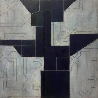 Ancient Modern Series Geometric Abstract Oil Painting For Sale