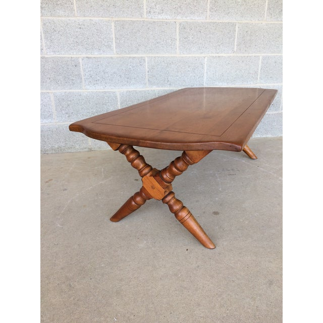 Cushman Colonial Maple Coffee Table For Sale In Philadelphia - Image 6 of 11