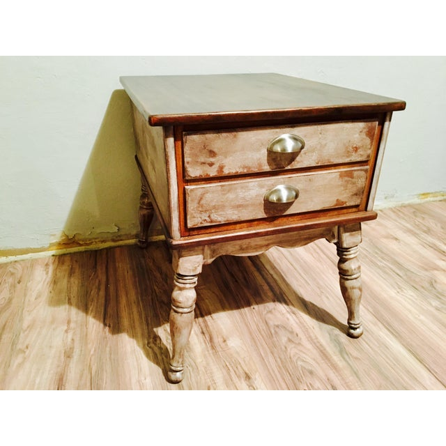 Farmhouse Rustic Side Table - Image 5 of 11