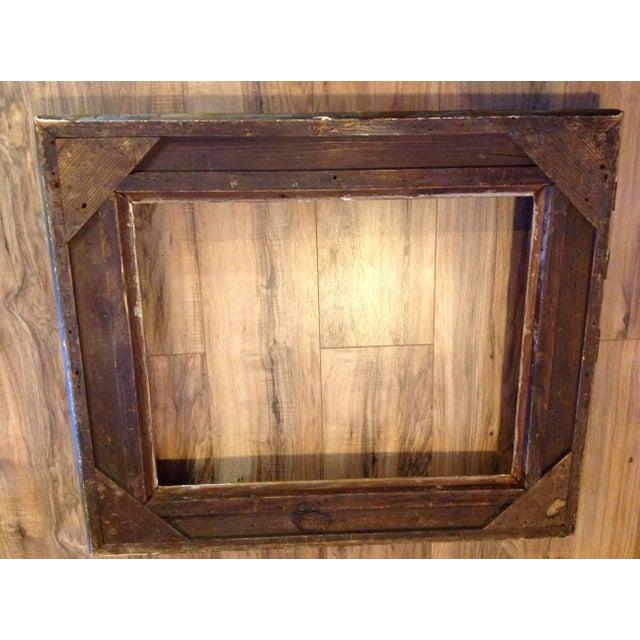 Antique Wood Hollywood Regency Large Frame Victorian White Shabby Chic - Image 6 of 11