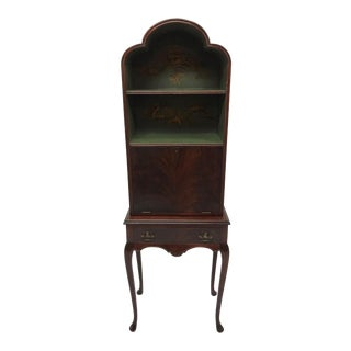 Queen Anne Style Chinoiserie Motif Desk For Sale
