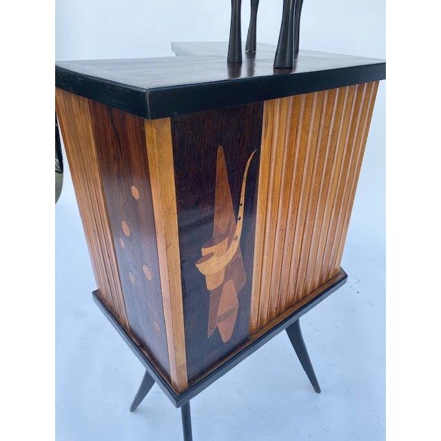 Late 1950's Mid Century Inlaid Bar For Sale - Image 10 of 11