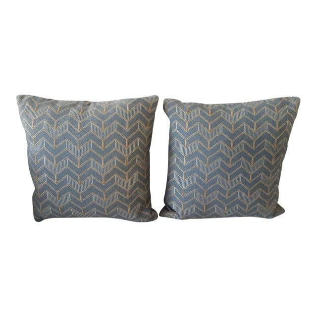 Mitchell Gold & Bob Williams Custom Down Pillows - A Pair For Sale