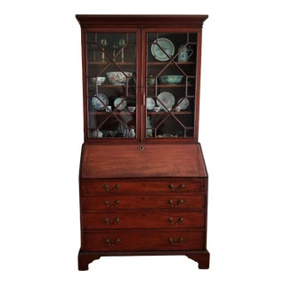 18th Century Chippendale Mahogany Secretary For Sale