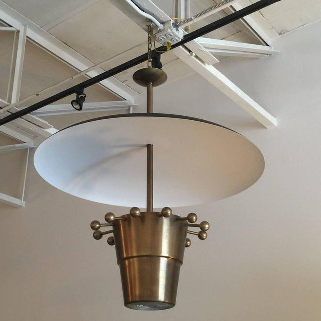Over-sized Brass Domed Hanging Light - Image 5 of 5