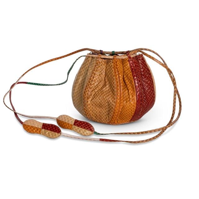 Judith Leiber 1980s Judith Leiber Multicolored Snakeskin Beach Ball Shoulder Bag For Sale - Image 4 of 8