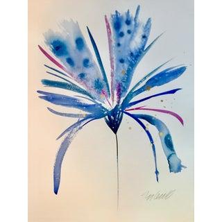 Blue Big Brush Botanical Art