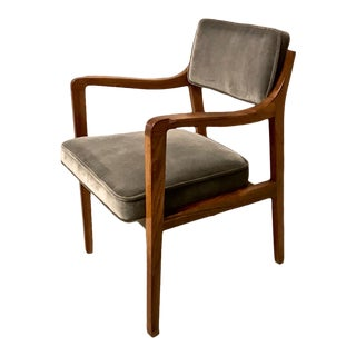 Set of 4 Rare Walnut Edward Wormley for Dunbar Model 830 Arm Chairs, Sold as 2 Pairs For Sale