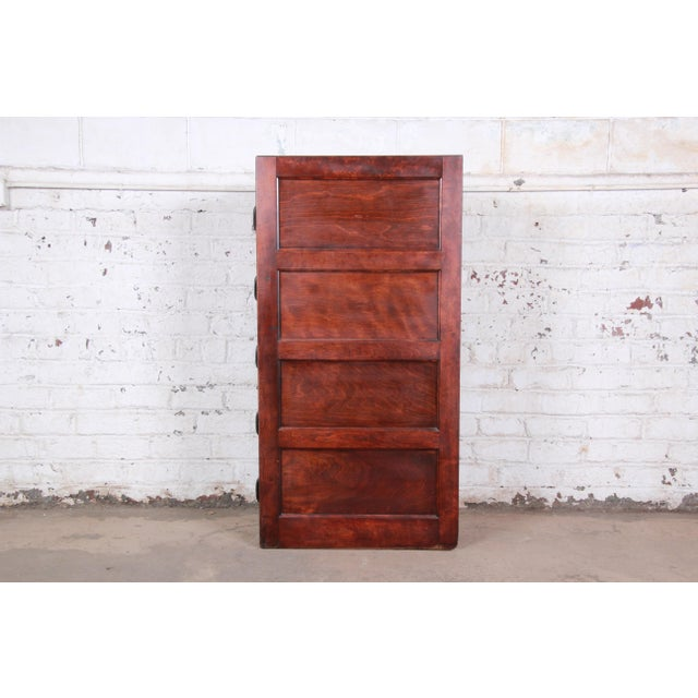 Brown Antique 5-Drawer Wood File Cabinet For Sale - Image 8 of 11