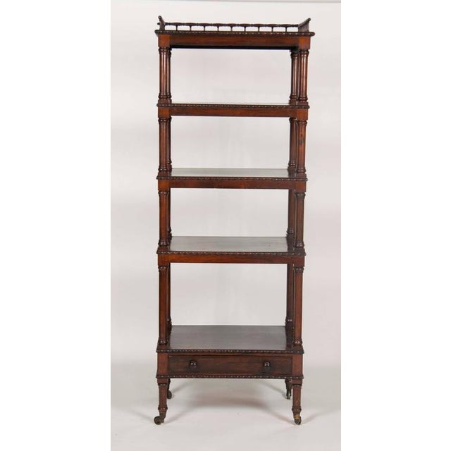 William IV Rosewood Whatnot/ Etagere For Sale - Image 10 of 10