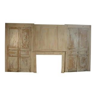 Painted Antique Boiserie with Fireplace from Provence, France
