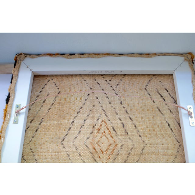 2010s Mounted Vintage Kuba Cloth Wall Hanging For Sale - Image 5 of 8