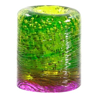 Jungle Contemporary Vase, Small Bicolor Lime Green and Violet resin by Jacopo Foggini For Sale