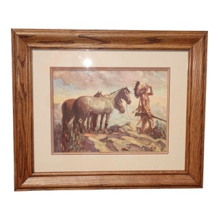 Vintage Picture of the 'Horse Trader' 1935 Print by Herbert M. Hegert For Sale