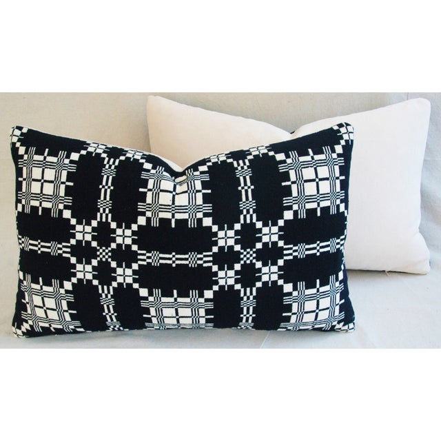 Custom 19th-C. New England Coverlet Pillows - Pair - Image 8 of 11