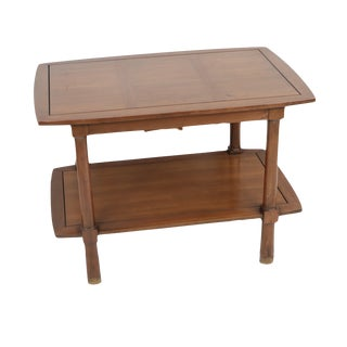 Vintage 60s Mid Century Modern Cherry Wood End Table For Sale