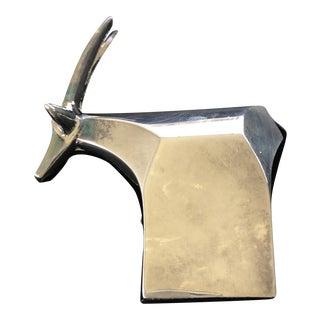 1970s Gunnar Cyren for Dansk Silverplate Antelope For Sale