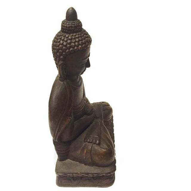 Vintage Carved Nepal Buddha Tall Temple Statue - Image 3 of 6