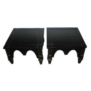 Ebonized Gothic Style End Tables - A Pair