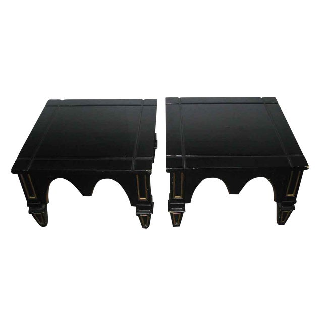 Incredible Ebonized Gothic Style End Tables A Pair Download Free Architecture Designs Xerocsunscenecom