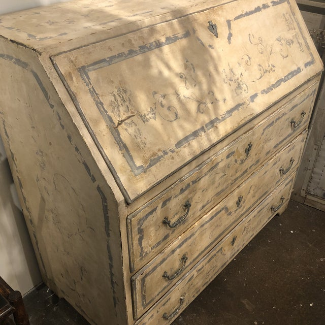 Antique Painted Secretary Desk For Sale In Houston - Image 6 of 13