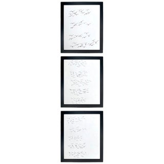 Framed Gestural Drawings by Paul Chidlaw - Set of 3 For Sale