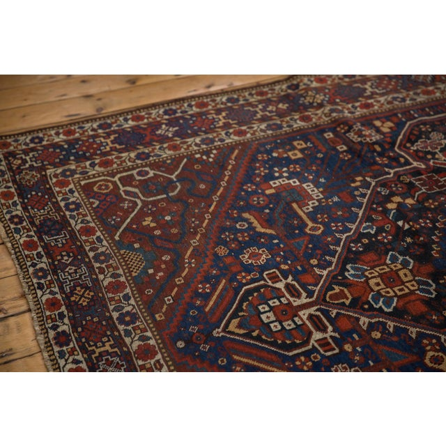 """Old New House Vintage Shiraz Carpet - 7'3"""" X 10'2"""" For Sale - Image 4 of 13"""