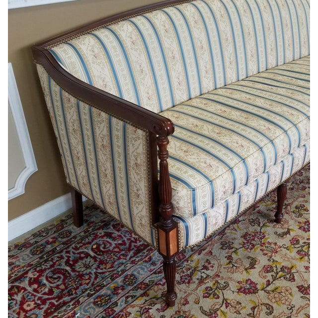 Fantastic Hickory Chair Company James River Collection Sheraton Mahogany Sofa For Sale In New York - Image 6 of 10