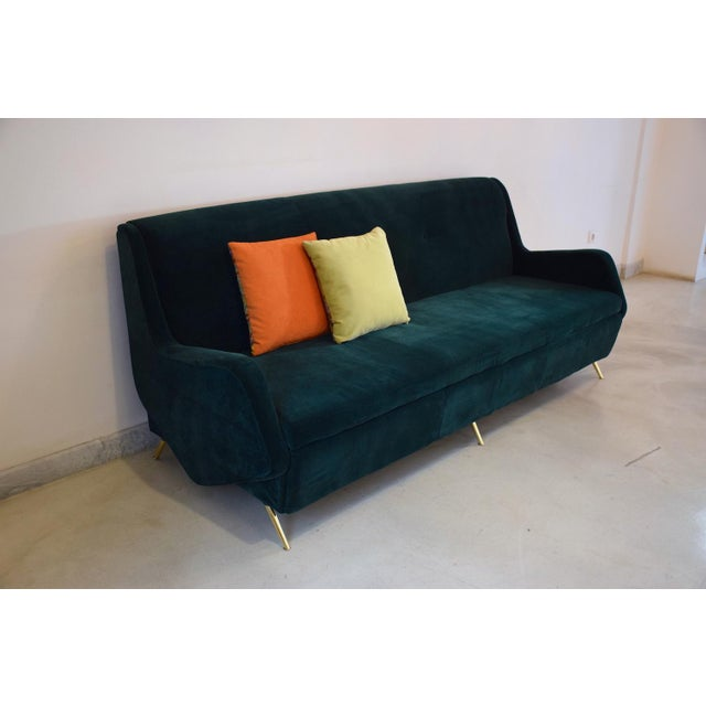 A 20th century vintage convertible sofa from the 1950s decade in Italy designer with an interesting angular design and...