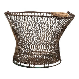 New England Handcrafted Wire Egg Basket For Sale