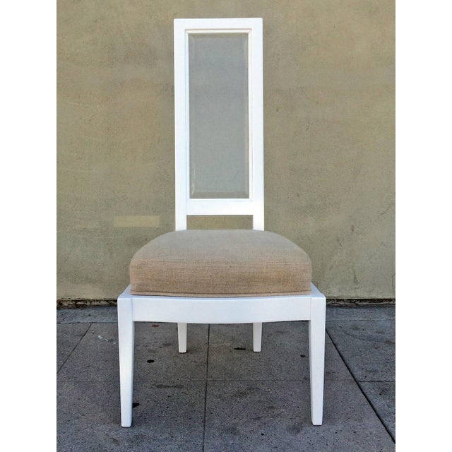 1970s White Lacquer And Lucite Dining Chairs - Set of 4 - Image 2 of 6