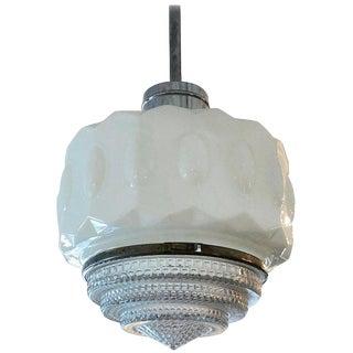 Deco Schoolhouse Light Pendant Fixture For Sale