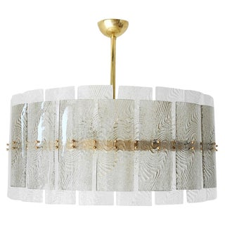 Dual Layer Drum Chandelier For Sale