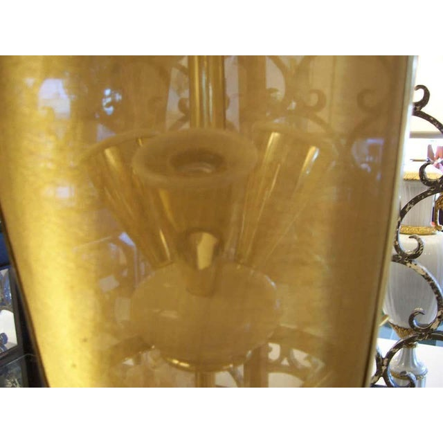Italian Italian Petite Brass Lantern Hanging Light For Sale - Image 3 of 5