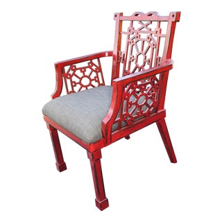 Uttermost Camdon Red Accent Chair For Sale