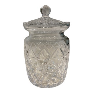 1990s Tiffany & Co. Glass Jar With Lid For Sale