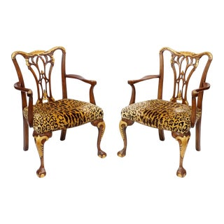 A Sporting Gentleman's Safari Chairs - a Pair