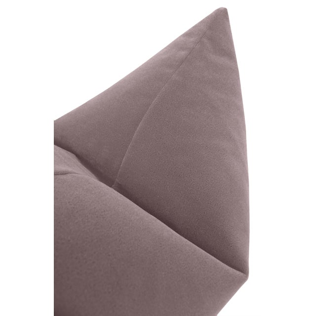 """22"""" Smokey Lavender Mohair Pillows - a Pair For Sale - Image 4 of 5"""