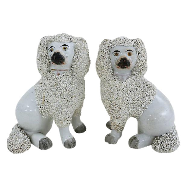 Antique Staffordshire Poodles - Pair - Image 1 of 3