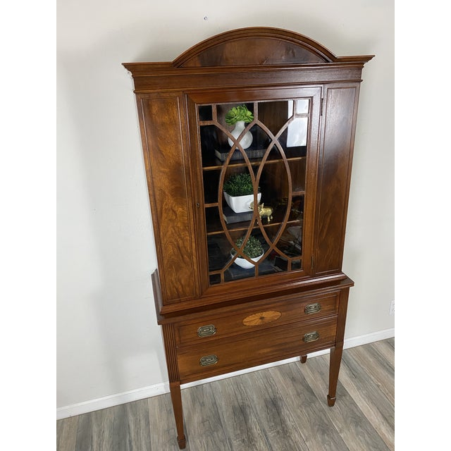 1950s Vintage Federal Style Cabinet For Sale - Image 11 of 12