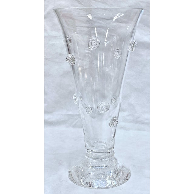 Steuben Swirled Crystal Vase For Sale In Tampa - Image 6 of 13