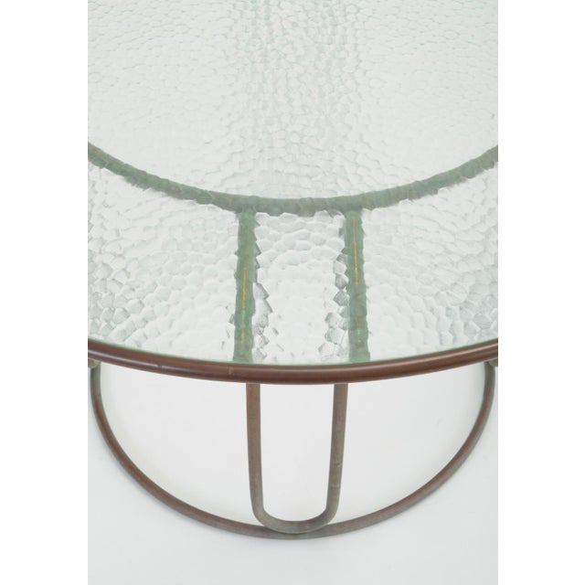 Round Patio Table With Oxidized Bronze Frame by Walter Lamb for Brown Jordan For Sale - Image 9 of 13