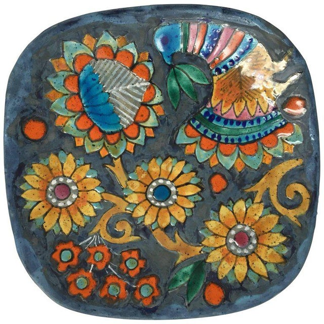 Hand-Painted Charger by Master Potter Marjatta Taburet Quimper France Circa 1960 For Sale - Image 10 of 10