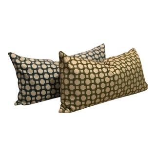 Ambesson Velvet Textile Lumbar Pillows - a Pair For Sale