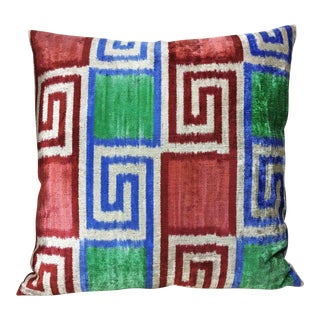 Tri-Color Silk Velvet Euro Down Feather Pillow For Sale